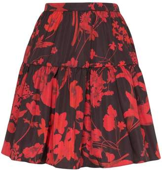 Valentino tiered floral print mini skirt