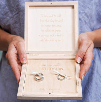 Keepsake Clouds and Currents Personalised Heart Couples Wedding Ring Box