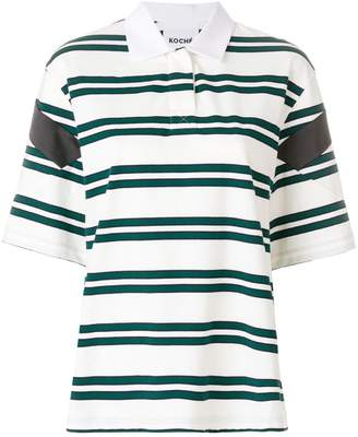 Koché striped polo shirt