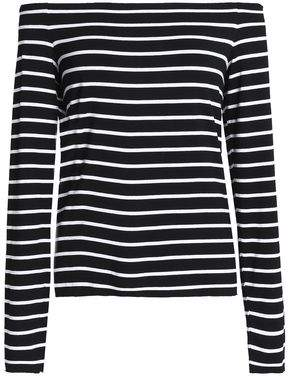 Bailey 44 Striped Stretch-Jersey Top