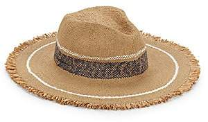 Hat Attack Women's Continental Fringed Striped Hat