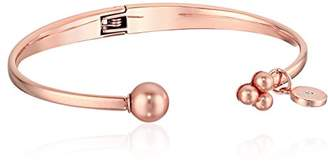 Michael Kors Modern Classic Pearl -Tone and Rose Pearl Open Hinge Bracelet