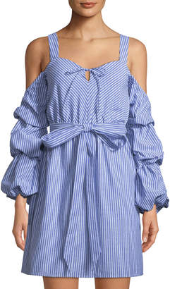 Alexia Admor Sweetheart Cold-Shoulder Ruffle-Sleeve Dress