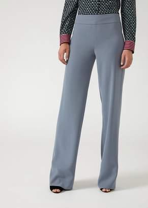 Emporio Armani Soft Cady Palazzo Trousers