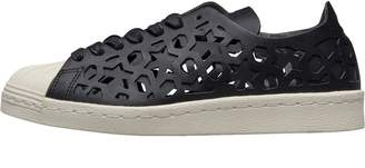 adidas Womens Superstar 80s Cut Out Trainers Core Black Core Black Off White a118176e9
