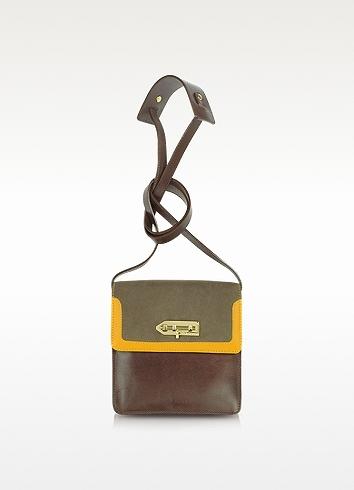 MySuelly Lola - Patchwork Calf Leather Shoulder Bag