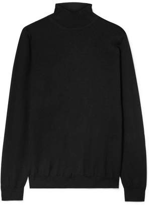 Tom Ford Cashmere And Silk-blend Turtleneck Sweater - Black
