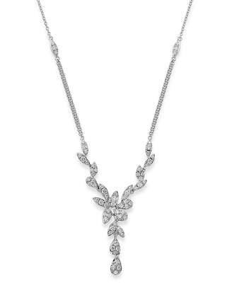 Bloomingdale's Pavé Diamond Leaf Necklace in 14K White Gold, 1.10 ct. t.w. - 100% Exclusive