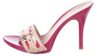 Christian Dior Plastic Slide Sandals