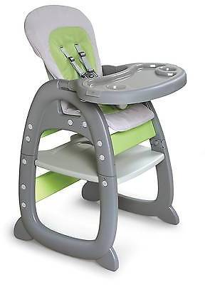 Badger Basket Badger Basket Envee II Baby High Chair with Playtable Conversion - Gray and G...