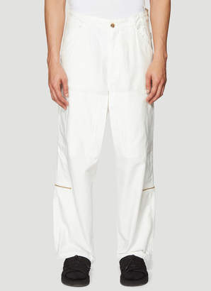 Clamp Helicopter Pants in White