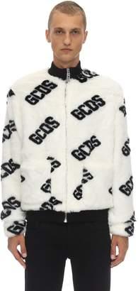 GCDS New Fur Coach Acrylic Blend Jacket