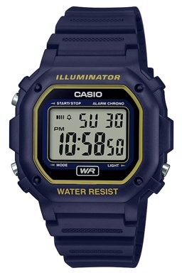 Casio Men's Illuminator Water Resistant Digital Watch - Blue