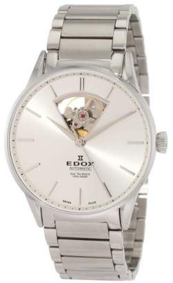 Edox Men's 'Les Vauberts' Swiss Automatic Stainless Steel Dress Watch
