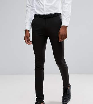 Asos Design DESIGN Tall super skinny tuxedo suit pants in black