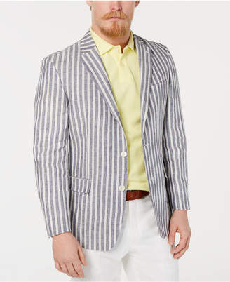 Tommy Hilfiger Men Modern-Fit Stripe Linen Sport Coat