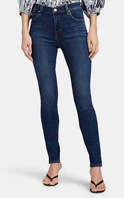 J Brand Women's Maria High-Rise Skinny Jeans - Blue