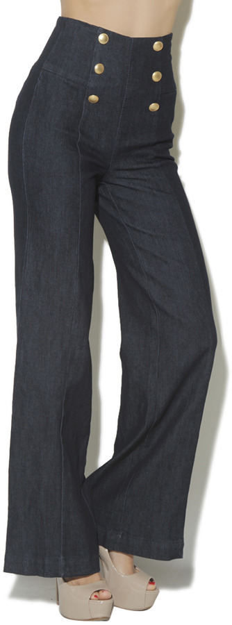 Arden B High Waist Sailor Pant