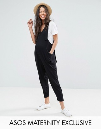 ASOS Maternity Overall Jumpsuit with Strapping Detail $48 thestylecure.com