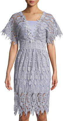 Few Moda Lace Cutout Sheath Dress