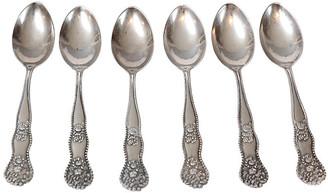 One Kings Lane Vintage Sterling Silver Demitasse Spoons - Set of 6 - Faded Rose Antiques LLC