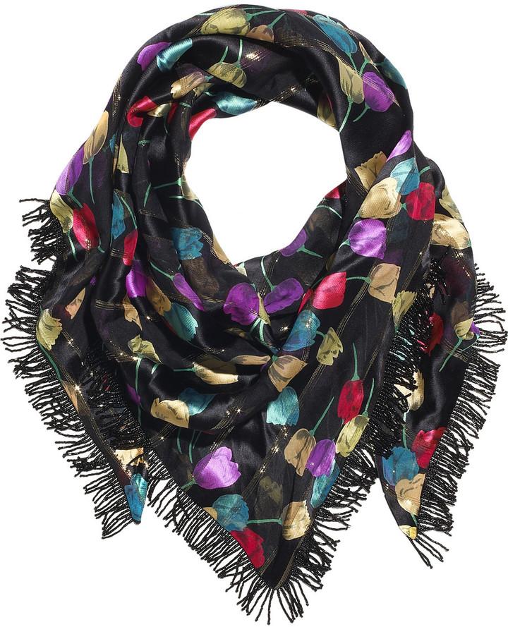 Prova Tulips silk printed scarf