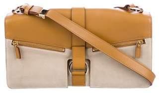 Gucci Leather-Trimmed Shoulder Bag