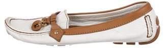 Louis Vuitton Leather Fleur Loafers