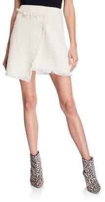 LIKELY Jules Tweed Faux-Wrap Short Skirt