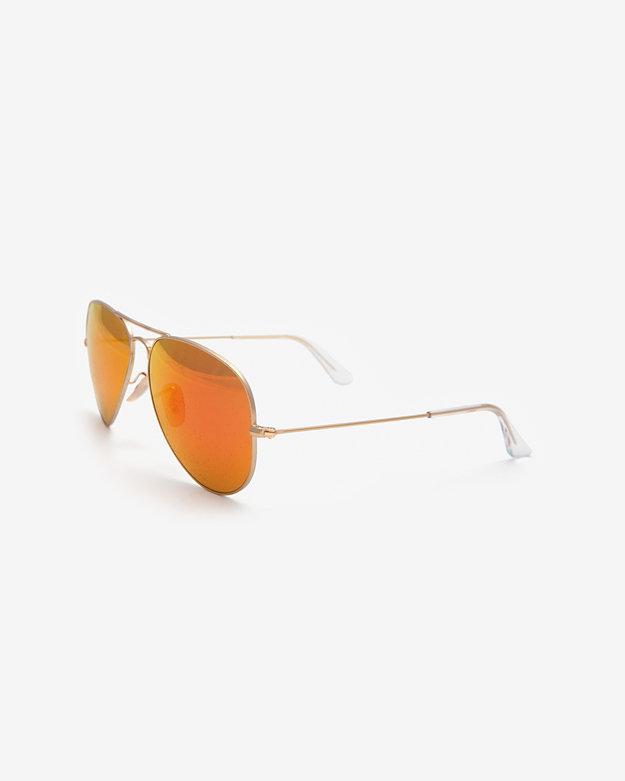 Ray-Ban Original Aviator Sunglasses: Gold/orange