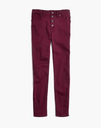 "Madewell 9"" High-Rise Skinny Jeans: Garment-Dyed Button-Front Edition"