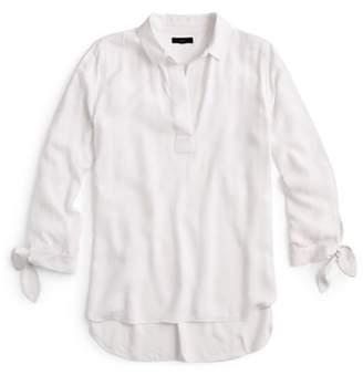 J.Crew Collared Tie-Sleeve Popover Shirt