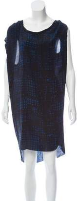 Etoile Isabel Marant Silk Raw-Edge Dress