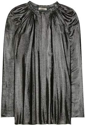 Nina Ricci Coated pleated blouse