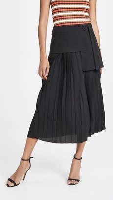 Victoria Victoria Beckham Side Tie Pleat Skirt