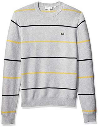 Lacoste Men's Long Sleeve Links Cotton Striped Sweater