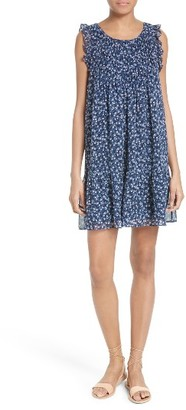 Women's Joie Tahoma Pintuck Silk Swing Dress $368 thestylecure.com