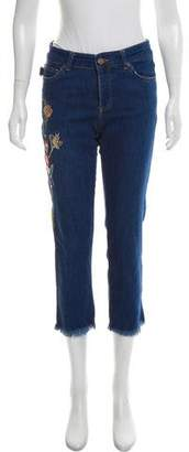 Zadig & Voltaire Embroidered Mid-Rise Jeans