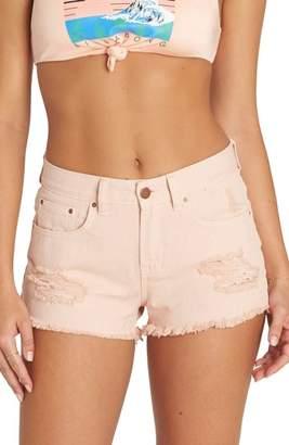 Billabong Drift Away Distressed Denim Cutoff Shorts