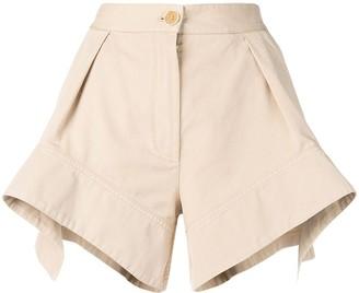 J.W.Anderson Flax curved hem chino shorts