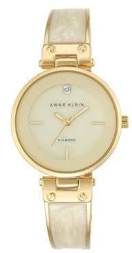 Anne Klein Analog Bangle Enamel Filled Bracelet Watch