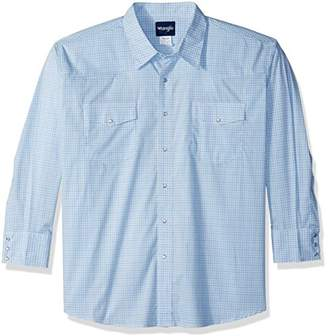 Wrangler Men's Wrinkle Resist Big and Tall Long Sleeve Snap Front Shirt