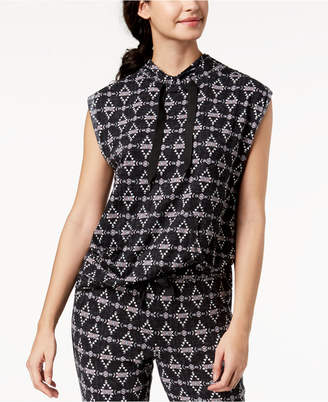Lush Ande Luxe Drawstring-Neck Pajama Tunic