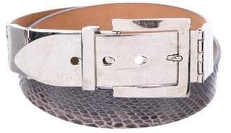 Alexander McQueen Snakeskin Waist Belt