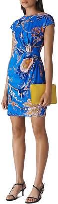 Whistles Exotic Floral Silk Blend Dress