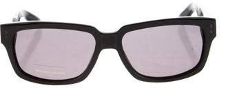 Bottega Veneta Tinted Intrecciato-Trimmed Sunglasses