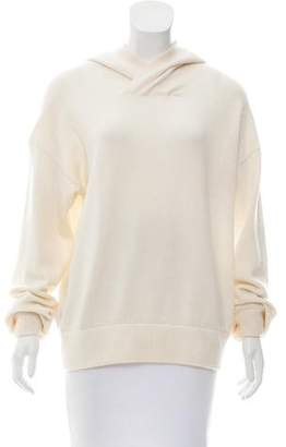 Vince Hooded Cashmere-Blend Sweater