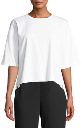 Eileen Fisher Plus Size Half-Sleeve Jersey Top