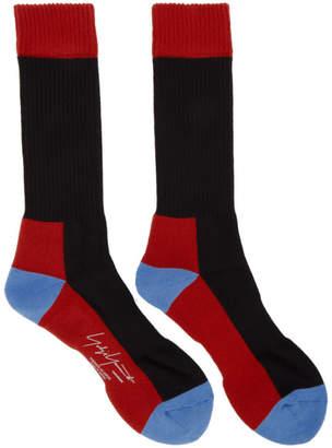 Yohji Yamamoto Black Panel Boot Socks