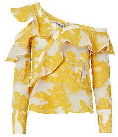 Self-Portrait Asymmetrical Ruffle Blouse $410 thestylecure.com
